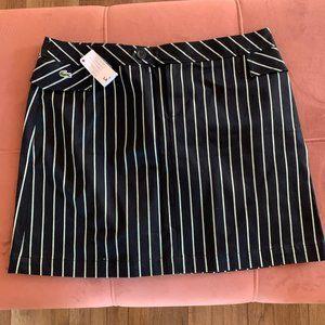 Lacoste Navy Striped Short Skirt
